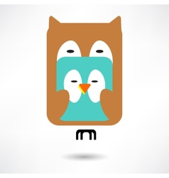 Couples of owls and birds autumn vector image