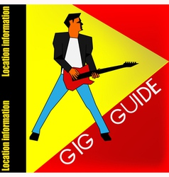 Gig Guide Background vector image vector image