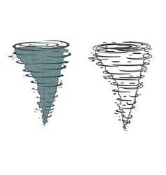 Tornado on a white background vector image