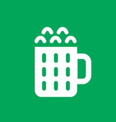 beer simple icon vector image vector image