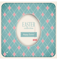 Easter Retro Card vector image vector image