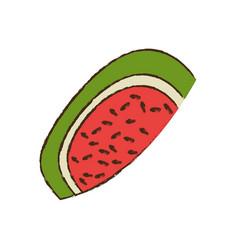half watermelon fruit nutrition vector image