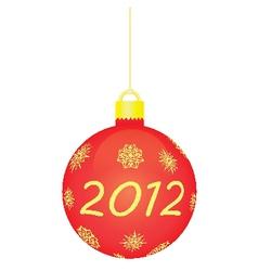 red christmas tree ball vector image vector image