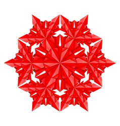 red paper snowflake vector image vector image