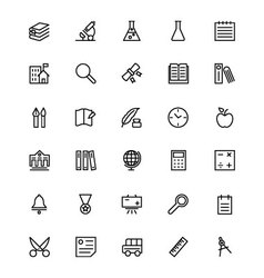 School and Education Line Icons 4 vector image