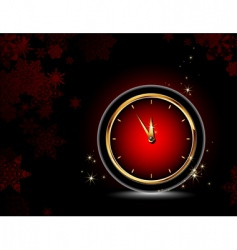 clocks Christmas background vector image vector image