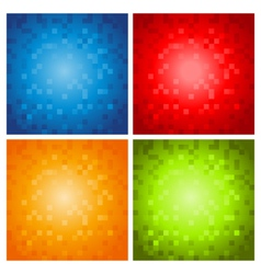 Colorful Pixel Backgrounds vector image