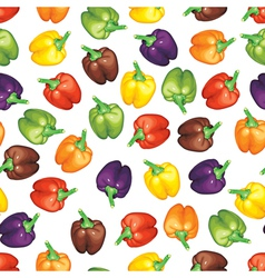 multicolor peppers pattern vector image vector image
