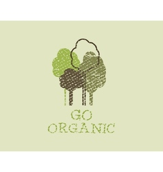 Organic eco green template Vintage ecology poster vector image vector image