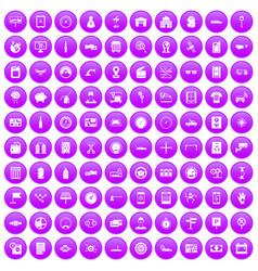 100 auto repair icons set purple vector