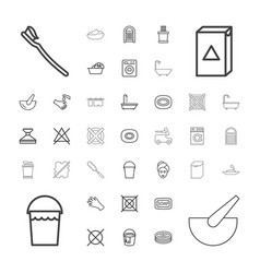 37 wash icons vector