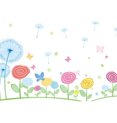 Abstract floral card vector