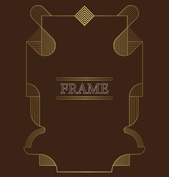 abstract linear frame template vector image
