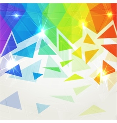 Abstract shining polygonal rainbow background vector