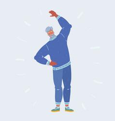 active retirement elderly man doing exercise vector image