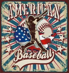 American baseball sport vector