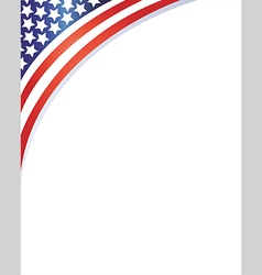 American flag on the corner patriotic frame vector