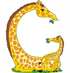 animal alphabet giraffe vector image