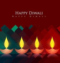 Artistic diwali background vector