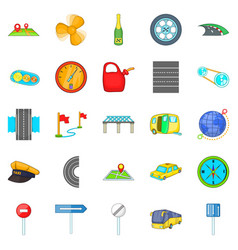 Autobahn icons set isometric style vector