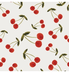 Autumn cherries pattern vector image