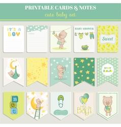 Baby boy card set - for birthday shower vector