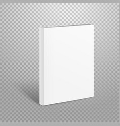 Blank thin book mockup paper book isolated on vector
