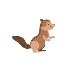 Brown Chipmunk Sitting And Smiling vector image