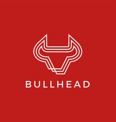 bull head logo icon vector image