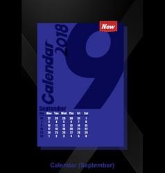 calendar ui september image vector image