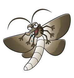 Cartoon moth vector