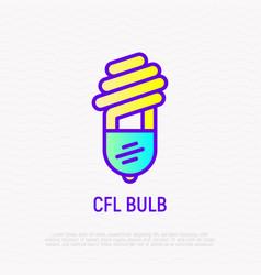 cfl bulb thin line icon vector image
