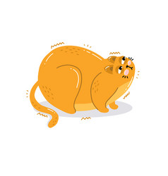 character is a cute hand drawn angry cat vector image