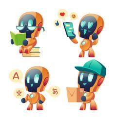 chat bot ai robot set future marketing innovation vector image