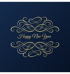 Christmas and New Year background greeting card vector