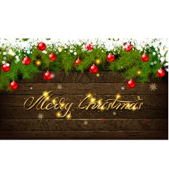 christmas and new year typographical vector image