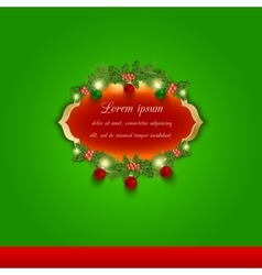 Christmas greeting and invitation card vector