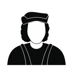 Christopher Columbus costume icon vector image