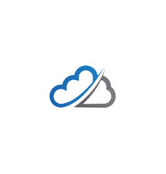 cloud logo icon design template vector image