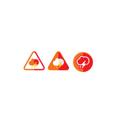 cloud weather alert logo icon vector image