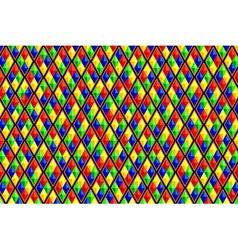 Colorful diamond shaped quadrangle pattern vector