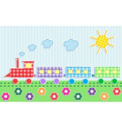 cute cartoon train vector image vector image