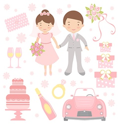 Cute Wedding vector image