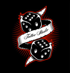 dice shirt design vector image