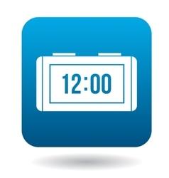 Digital alarm clock icon simple style vector image