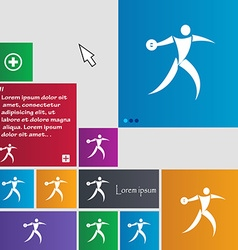 Discus thrower icon sign buttons modern interface vector