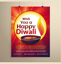 Diwali celebration flyer template for the vector