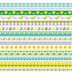 easter border patterns vector image