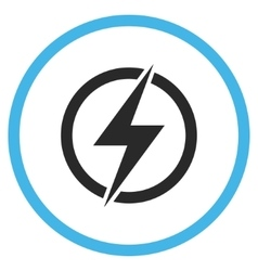 Electricity Flat Rounded Icon vector