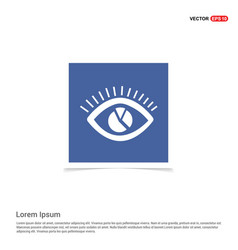eye icon - blue photo frame vector image